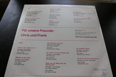 Chris und Frank - Fur unsere Freunde